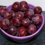 Røde stenfrie druer